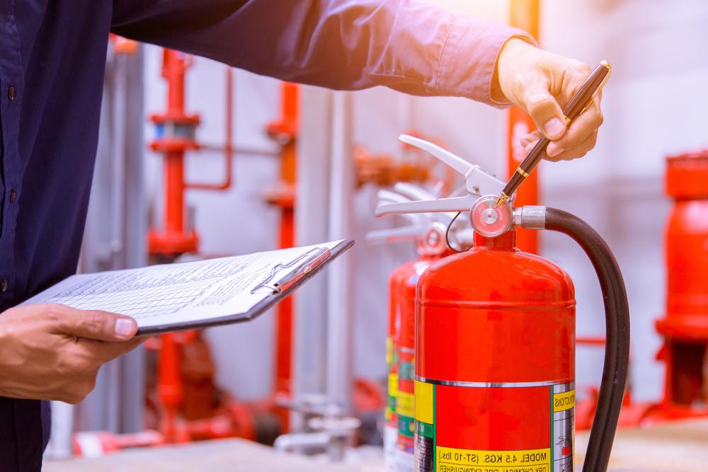 sprawdzanie stanu gasnicy